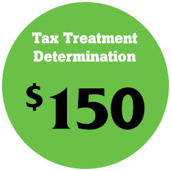 Tax Treatment Determination